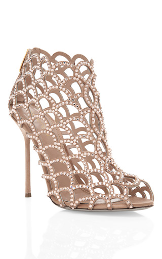 Medium sergio rossi nude nude jeweled bootie