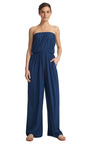 Feather Weight Strapless Jumpsuit by THAKOON ADDITION Now Available on Moda Operandi