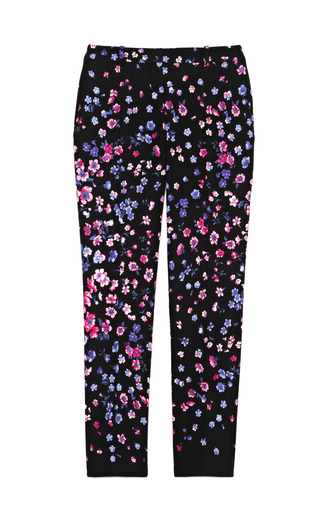 Medium versace black small flower printed pants