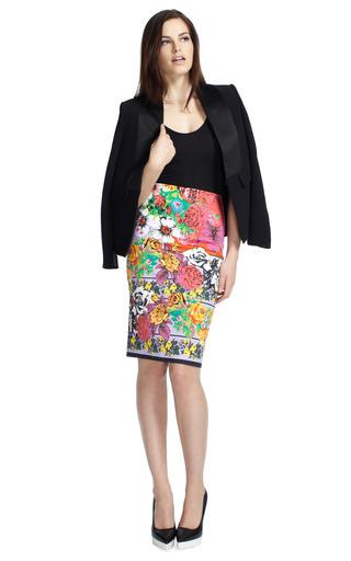 Vintage Print Skirt by VERSACE Now Available on Moda Operandi