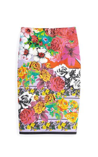 Medium versace multi vintage print skirt
