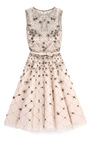 Tulle Illusione Sleeveless Dress W/ Silver Beading by VALENTINO Now Available on Moda Operandi