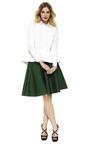 Cotton Poplin Peplum Top by VALENTINO Now Available on Moda Operandi