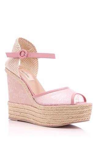 Medium valentino pink pop gardenia glamourous espadrille platform