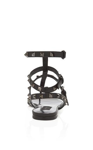 Noir Gladiator Sandal by VALENTINO Now Available on Moda Operandi