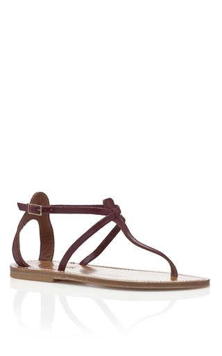 Medium k jacques red tejus bordeaux buffon sandals