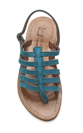 Caraibe Teal Homere Sandals by K. JACQUES Now Available on Moda Operandi