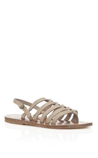 Medium k jacques white beige homere sandals