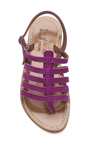 Clover Fuchsia Homere Sandals by K. JACQUES Now Available on Moda Operandi