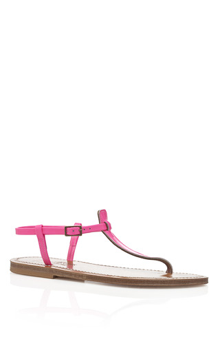 Fluo Rose Picon Sandals by K. JACQUES Now Available on Moda Operandi