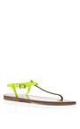 Fluo Jaune Picon Sandals by K. JACQUES Now Available on Moda Operandi