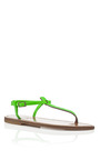 Fluo Vert Picon Sandals by K. JACQUES Now Available on Moda Operandi