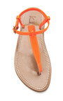 Fluo Orange Picon Sandals by K. JACQUES Now Available on Moda Operandi