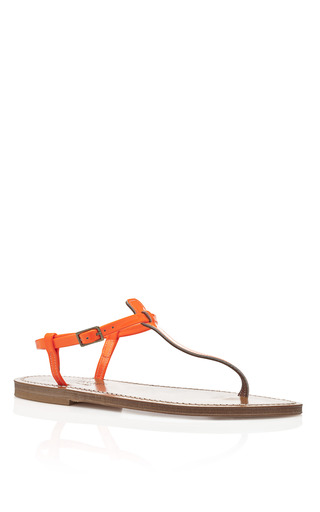 Medium k jacques orange fluo orange picon sandals