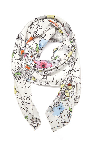 Medium tanya taylor floral light saint james floral scarf