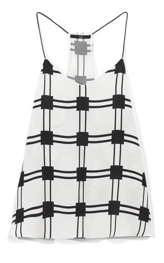 Medium tibi black marcel checkered tank