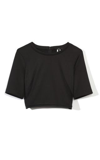 Medium tibi black cropped top
