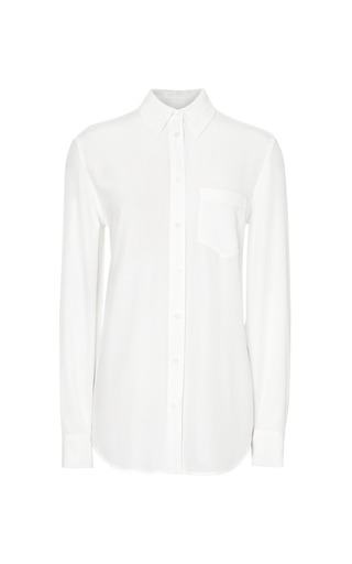 Medium equipment white reese silk blouse