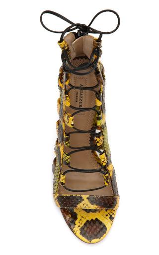 Yellow Amazon Lace Up Bootie by AQUAZZURA Now Available on Moda Operandi