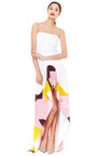 Macro Floral Stamped Long Dress by VIONNET Now Available on Moda Operandi
