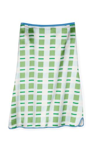 Medium thom browne print scallop v skirt