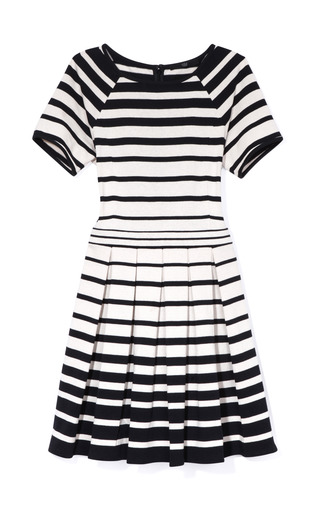 Medium tibi multi variegated stripe knit pleated dress