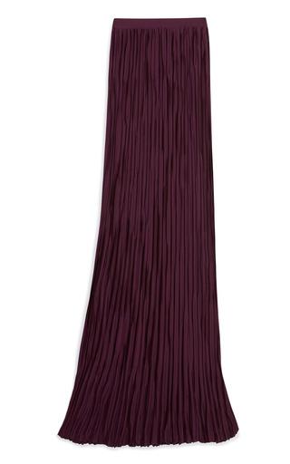 Medium vionnet purple plisse column skirt