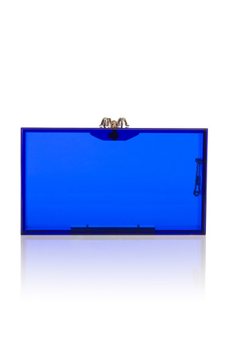 Medium charlotte olympia blue pandora clutch 7