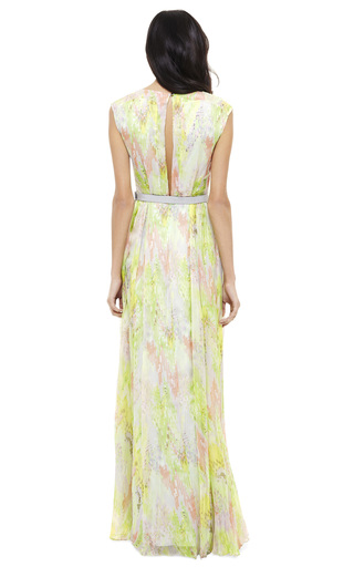 V Neck Panelled Gown by MATTHEW WILLIAMSON Now Available on Moda Operandi