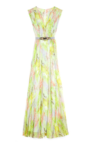 Medium matthew williamson multi v neck panelled gown 2