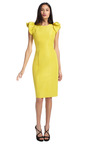 Silk Faille Puff Sleeve Sheath Dress by CAROLINA HERRERA Now Available on Moda Operandi