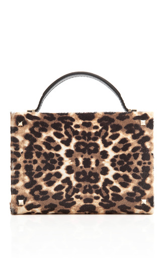 Leopard Hair Calf Minaudiere by VALENTINO Now Available on Moda Operandi