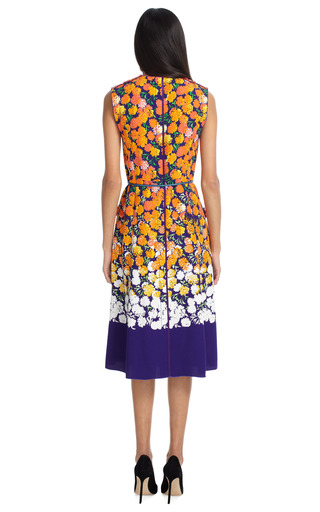 Stripe Tweed Dress With Floral Panels by MARC JACOBS Now Available on Moda Operandi