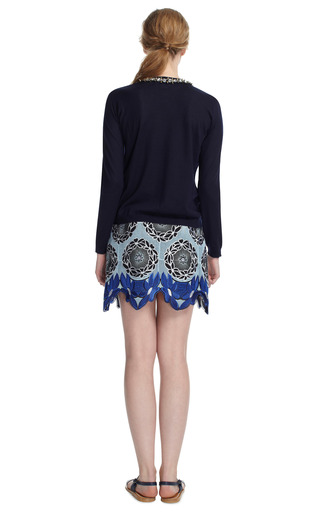 Lace Hem Mini Skirt by THAKOON ADDITION Now Available on Moda Operandi