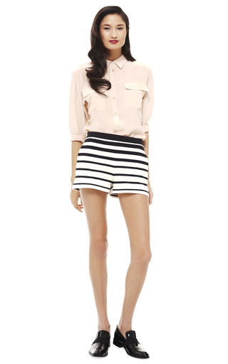 Variegated Stripe Knit Short by TIBI Now Available on Moda Operandi