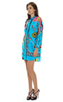 Long Sleeve Multicolor Shirt Dress by VERSACE Now Available on Moda Operandi