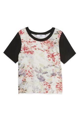Medium prabal gurung print floral short sleeve blouse 2