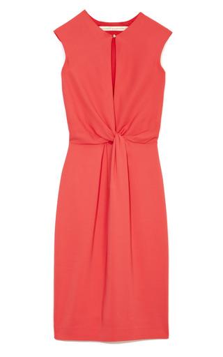 Medium francesco scognamiglio red knotted cap sleeve dress