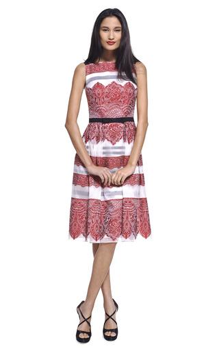 Lace Stripe Jacquard Cocktail Dress by CAROLINA HERRERA Now Available on Moda Operandi