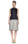 Pleated Back Cardigan Skirt by THOM BROWNE Now Available on Moda Operandi