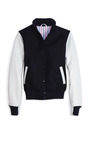 Varsity Jacket by THOM BROWNE Now Available on Moda Operandi