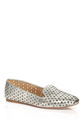 Medium aquazzura silver roy loafer 2