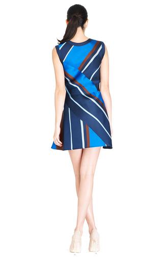Multi Diagonal Stripe Dress by OSTWALD HELGASON Now Available on Moda Operandi