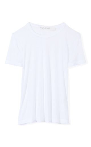 Medium yigal azrouel white viscose jersey tee 2