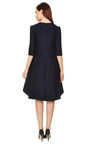 Blue/Black V Neck Saddle Hem Dress by MARNI Now Available on Moda Operandi
