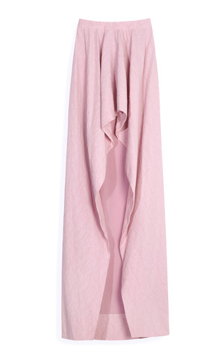 Medium vionnet purple silk cotton cloque skirt 2