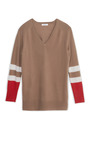 Asher V Neck Color Block Sweater by EQUIPMENT Now Available on Moda Operandi