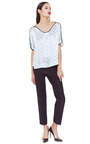 Scallop V Tee by THOM BROWNE Now Available on Moda Operandi