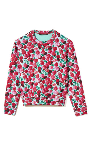 Medium marc jacobs print long sleeve floral sweatshirt