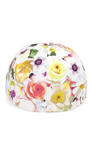 Floral Stamped Baseball Cap by MSGM Now Available on Moda Operandi